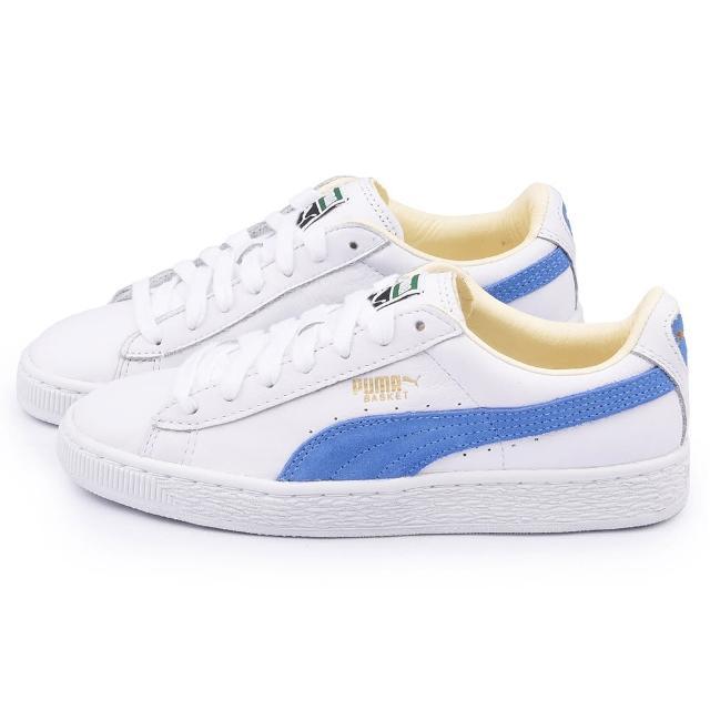 【PUMA】男款 Basket Classic 運動鞋(351912-37-白藍)