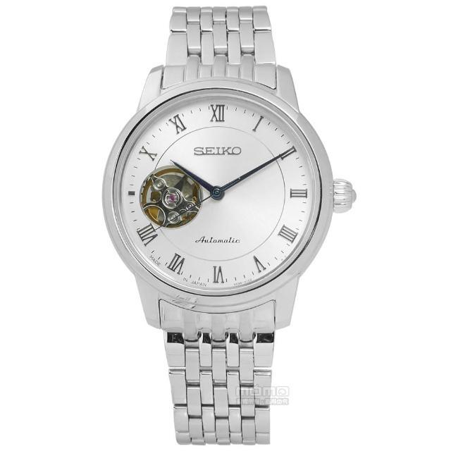 【SEIKO精工】都會紳士機械不鏽鋼腕錶 銀色 34mm(4R38-01A0S.SSA859J1)