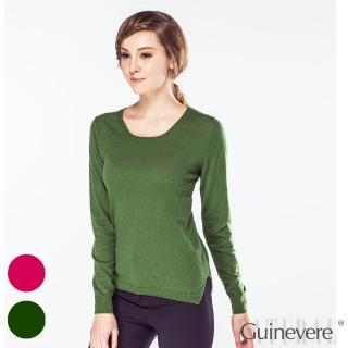 【矜蘭妃】超細緻圓領CASHMERE羊絨衫(綠)
