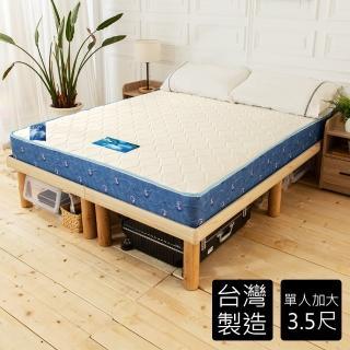 【時尚屋】送冷凝膠枕-日式雙布色3.5尺單人加大經典獨立筒彈簧床墊(GA13-3.5)