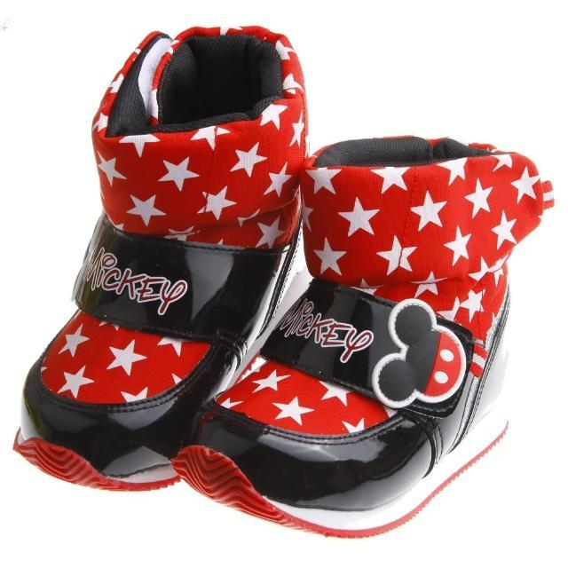 【布布童鞋】Disney迪士尼米奇酷炫紅色時尚保暖空氣靴(MLK614A)