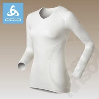 【瑞士 ODLO】warm effect女V領長袖排汗內衣.V領衛生衣(白 190881)