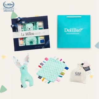 【La Millou】安撫禮盒_豆豆安撫兔23cm+豆豆安撫巾-贈送禮提袋(多款可選_彌月禮盒)