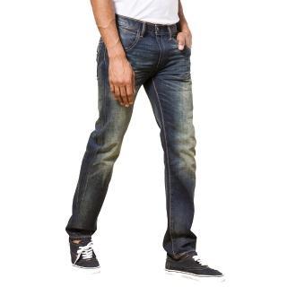 【Levis】DOUBLE STITCH 513 做舊水洗修身直筒輕磅丹寧牛仔褲