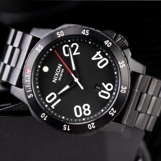 【NIXON】THE Ranger 軍事戰略潮流設計腕錶-黑(A506-001)