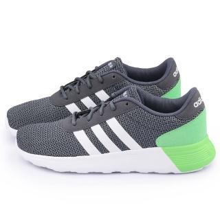 【Adidas】男款 Lite Racer 輕量慢跑鞋(F98305-灰綠)