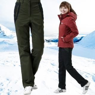 【遊遍天下】女款顯瘦直筒防風防潑水禦寒刷毛長褲/ 防風雪褲 P105二色(S-3L)