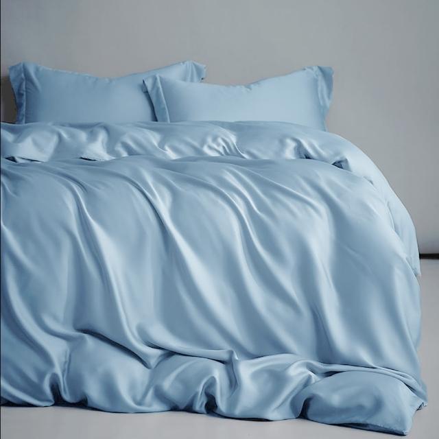 【A-nice】60支100%全天絲寢具 裸睡主義 素色/緹花 床包薄被套四件組(雙人/加大|多色任選/4003|DC)