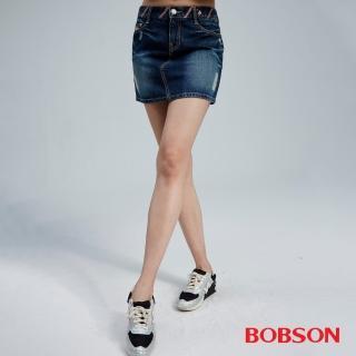 【BOBSON】女款刷破牛仔短裙(D089-53)