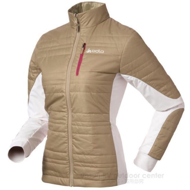 【瑞士 ODLO】Primaloft 女輕量透氣雙面保暖外套.機能型風衣 非羽絨(524561 淺咖啡)