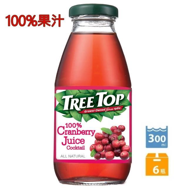 【Tree Top】樹頂100%蔓越莓綜合果汁300ml*6