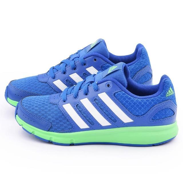 【Adidas】大童 透氣避震運動跑鞋(B23870-藍)
