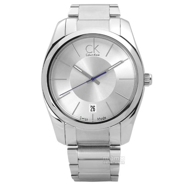 【Calvin Klein】精緻完美打造日期不鏽鋼腕錶 銀色 42mm(K0K21120)