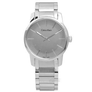 【Calvin Klein】都會女伶鏡面不鏽鋼腕錶 銀色 31mm(K2G23148)