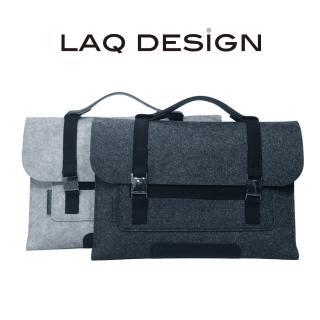 【LAQ DESiGN】13吋 羊毛氈手提包(淺灰/深灰)
