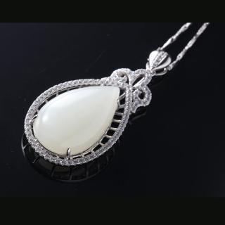 典藏富玉和闐羊脂白玉珠寶套組