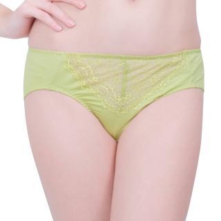 【思薇爾】星采系列M-XXL蕾絲中腰三角褲(嫩芽綠)