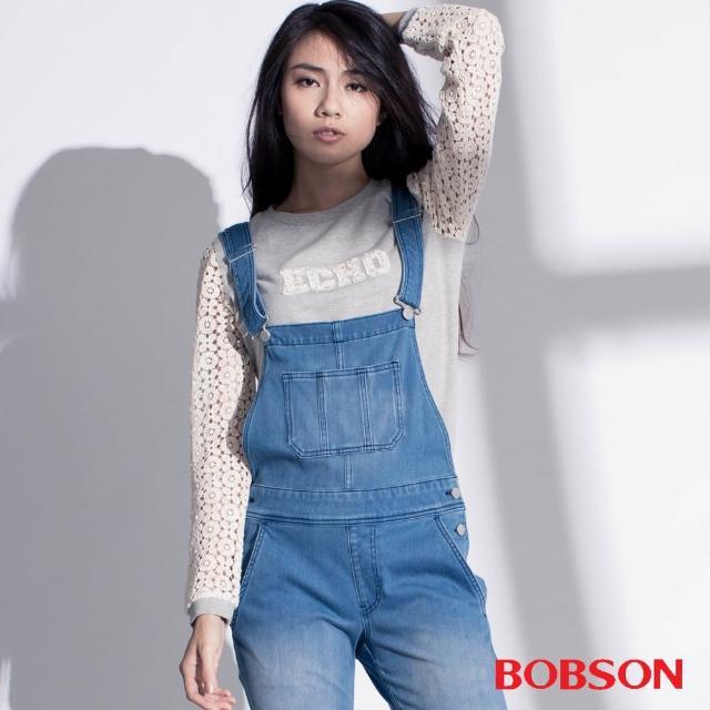 【BOBSON】女款搭配立體蕾絲袖上衣(35073-82)
