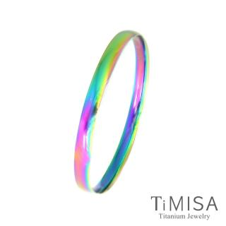 【TiMISA】純真-薄 純鈦手環(極光)