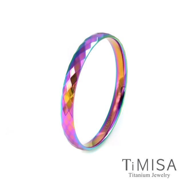 【TiMISA】格緻真愛-寬版 純鈦手環(極光)