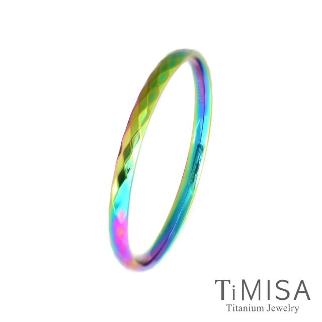 【TiMISA】格緻真愛-細版 純鈦手環(極光)