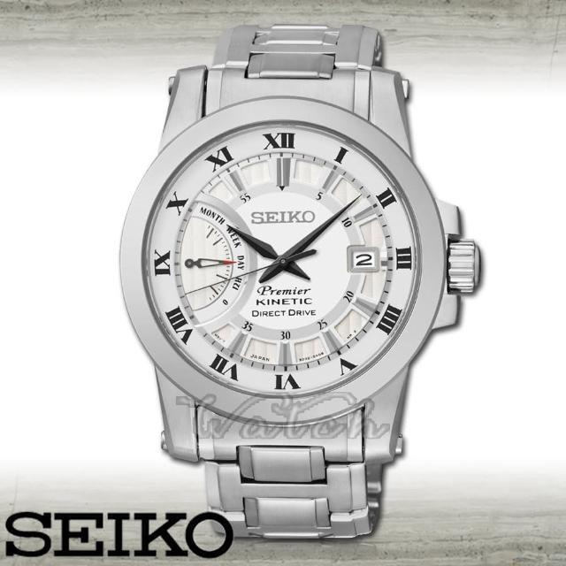 【SEIKO 精工】藍寶石水晶_不鏽鋼錶帶_日期視窗_防水男錶(SRG007P1)