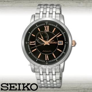 【SEIKO 精工】自動上鍊機械錶 藍寶石水晶 防水大鏡面3.9cm男錶(SSA043J1)