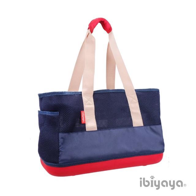 【IBIYAYA依比呀呀】輕 網布托特包-海軍藍(FC1526)