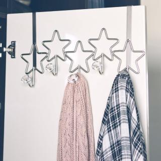 【樂活主義】韓系星星造型5勾門後勾/掛勾/衣帽架