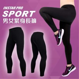 【INSTAR】PRO SPORT男女緊身長褲-緊身褲 台灣製 慢跑 路跑(黑)
