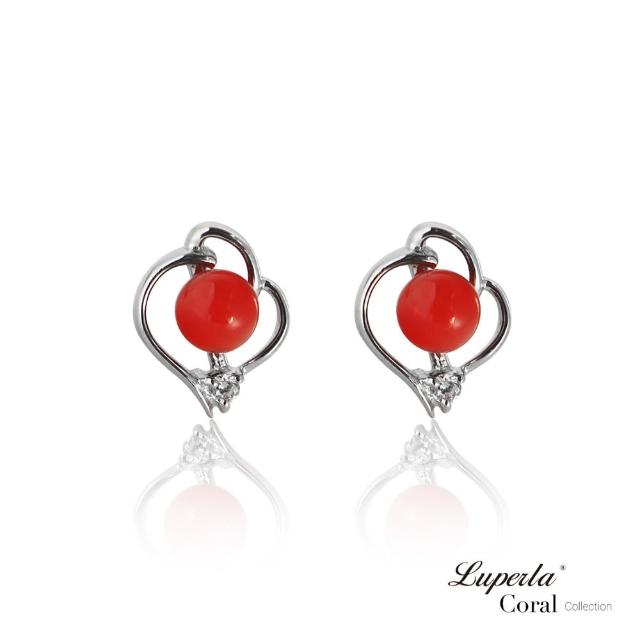 【大東山珠寶】好事成雙全紅珊瑚純銀耳環(天然全紅沙丁珊瑚)