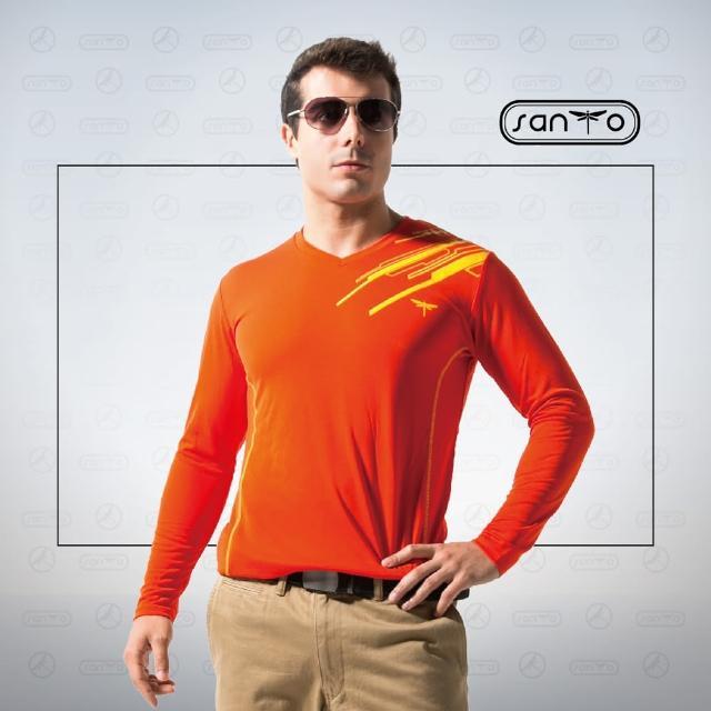 【SANTO win-fit】微氣候運動暖衫-長袖(紅色)
