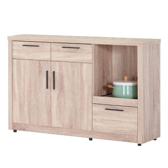 【AT HOME】高爾4尺橡木紋碗盤櫃/櫥櫃(下座)