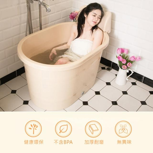 【生活King】頭枕式SPA泡澡桶(220公升)