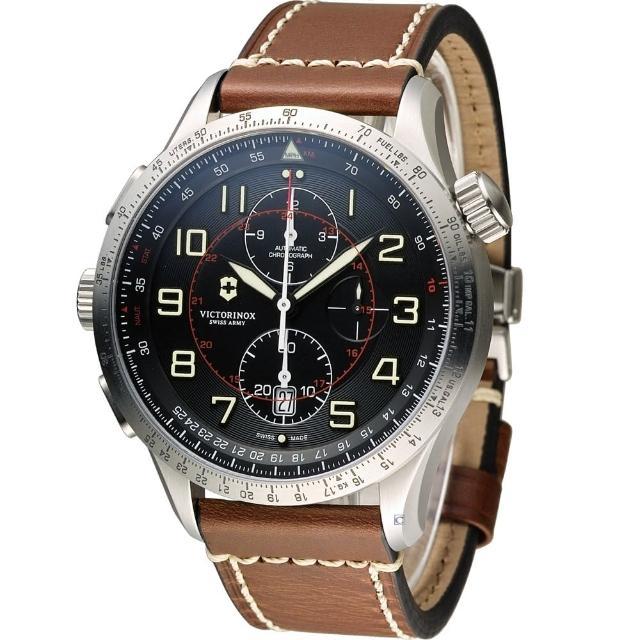 【Victorinox 維氏】Airboss MACH 9 自動上鏈機械計時碼錶(VISA-241710)
