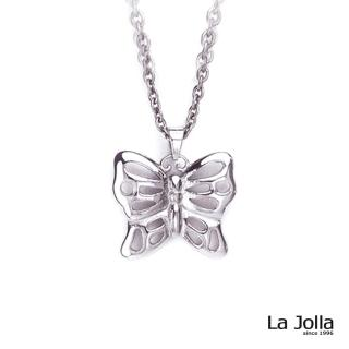 【La Jolla】蝶舞甜心 純鈦墜項鍊(銀色)