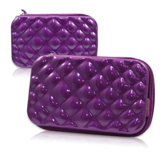 【ELIYA】多功能過夜包/迷你行李箱 紫色(贈倫敦芮魅指甲油乙瓶)