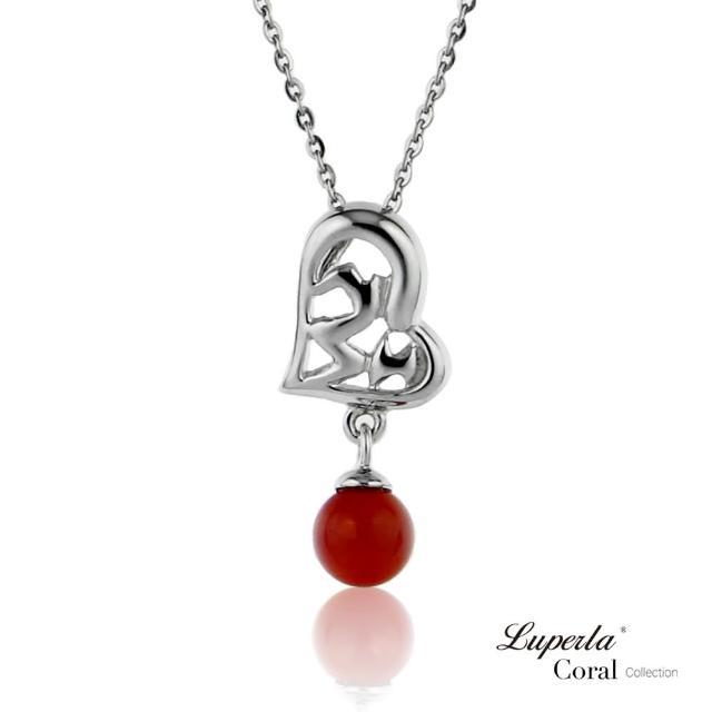 【大東山珠寶】心想事成全紅珊瑚項鍊墜飾(天然全紅沙丁珊瑚)
