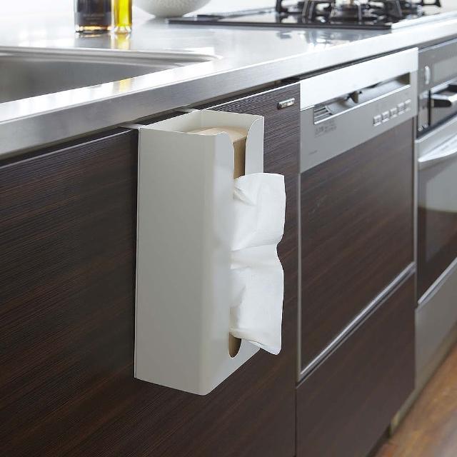 【日本YAMAZAKI】Plate面紙盒掛架(白)