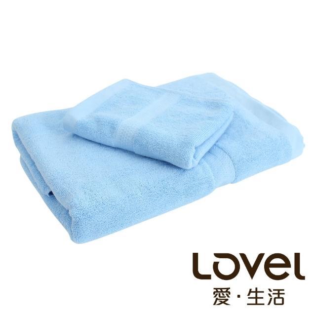 【LOVEL】嚴選六星級飯店素色純棉浴巾/毛巾2件組(共5色)