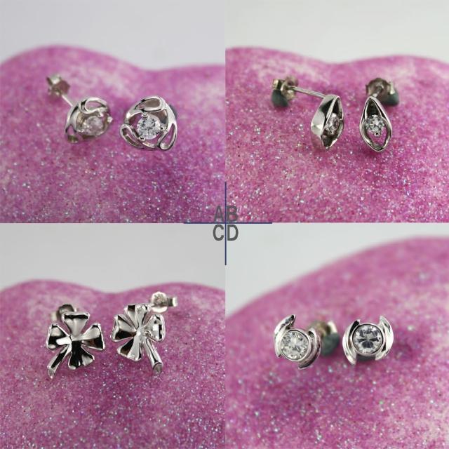 【xmono】925純銀耳環單顆美鑽經典款(3)