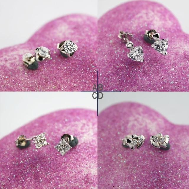 【xmono】925純銀耳環單顆美鑽經典款(2)