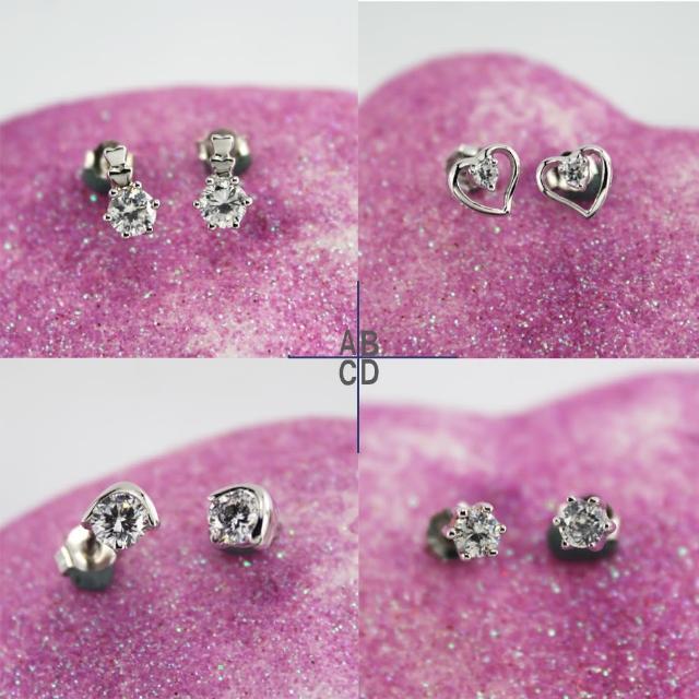 【xmono】925純銀耳環單顆美鑽經典款(1)