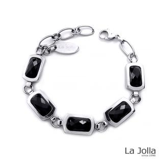 【La Jolla】蕭邦五號戀曲 純鈦鍺手鍊(黑瑪瑙)