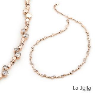 【La Jolla】璀璨愛戀 純鈦鍺項鍊(玫瑰金)