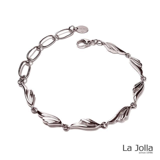 【La Jolla】夢想之翼 純鈦鍺手鍊(銀色)