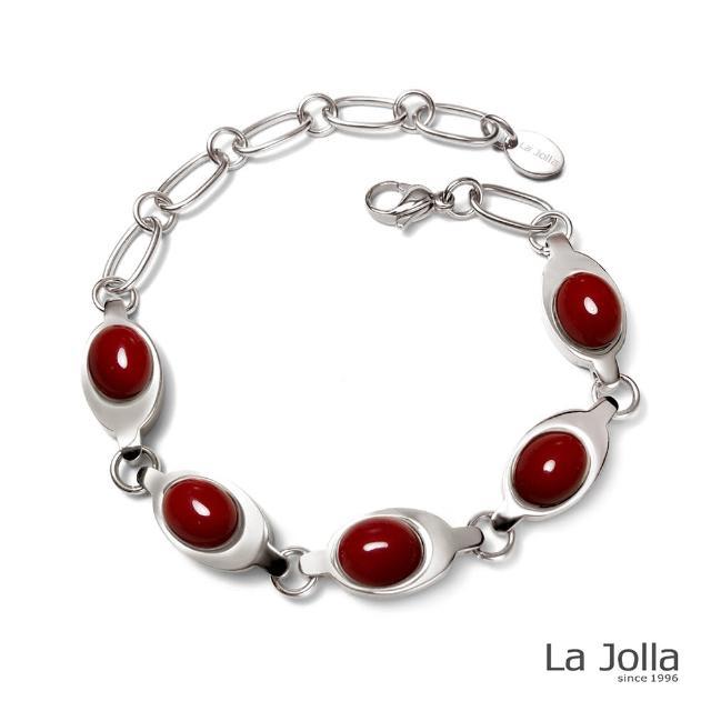【La Jolla】泰姬瑪哈 純鈦鍺手鍊(紅珊瑚II)