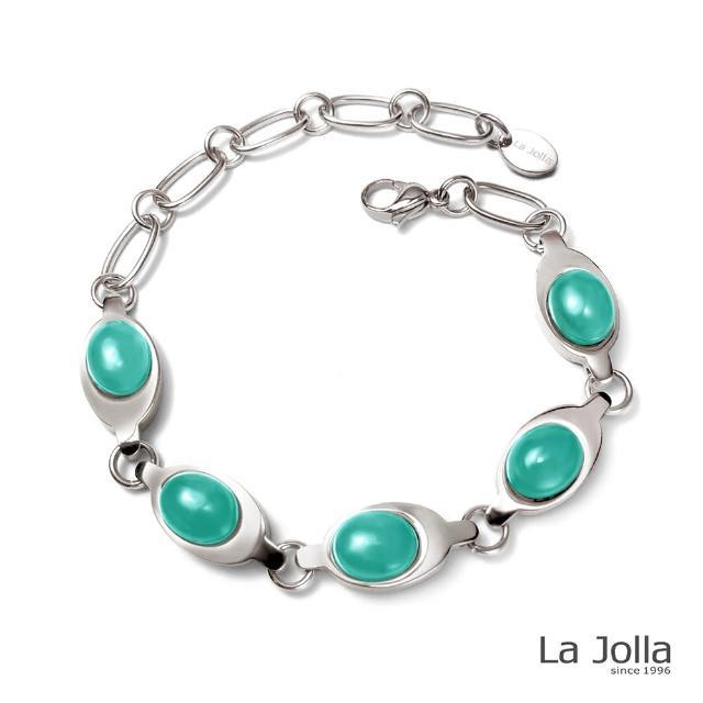 【La Jolla】泰姬瑪哈 純鈦鍺手鍊(台灣藍寶)
