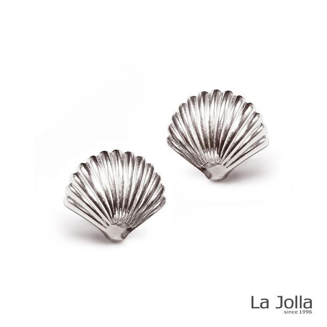 【La Jolla】美人寶貝 純鈦耳環(銀色)