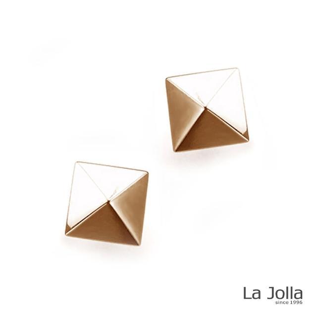 【La Jolla】金字塔 純鈦耳環(兩色)
